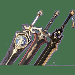 Двуручные мечи гайд Genshin Impact-min