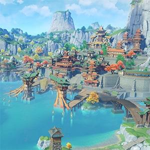 Город Ли Юэ в игре Геншин Импакт