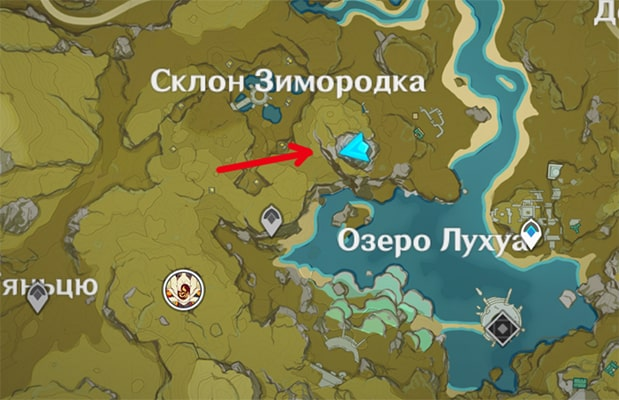 Где сокровища на склоне зимородка в Геншин Импакт