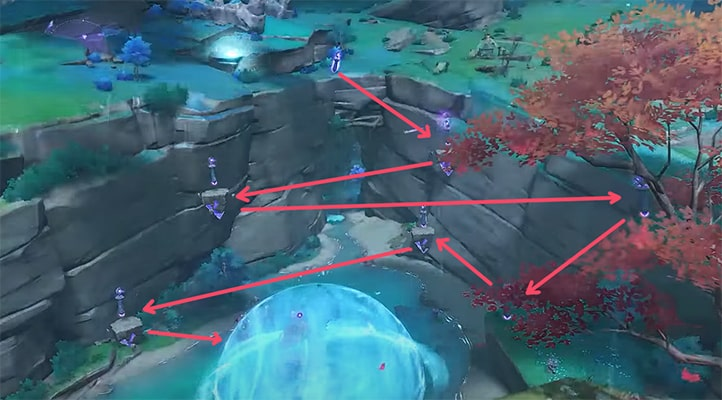 Как разбить сферу во второй части Наследие Оробаси в Genshin Impact